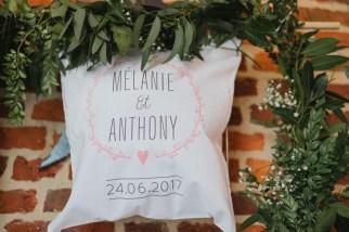 Tote bag avec le nom des mariés