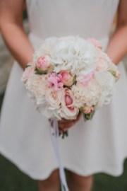 Bouquet de la mariée blanc et rose