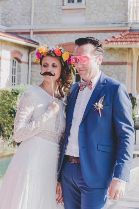 Photobooth mariage avec des accessoires
