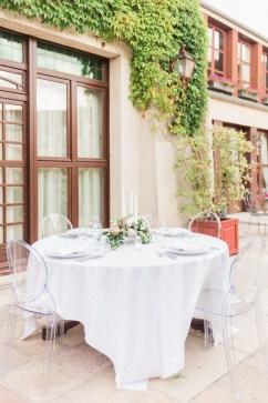 Table de mariage minimaliste et chic