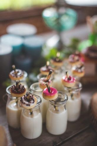 Donuts à un buffet de mariage