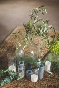 Décoration bougies et dame jeanne