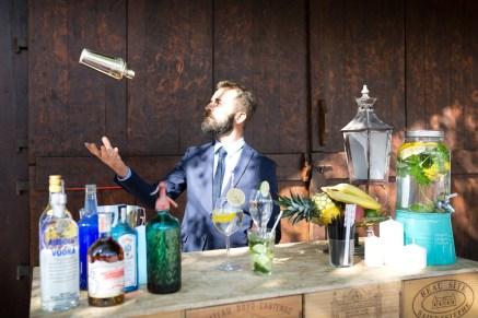 Bar à cocktails pour une animation de mariage