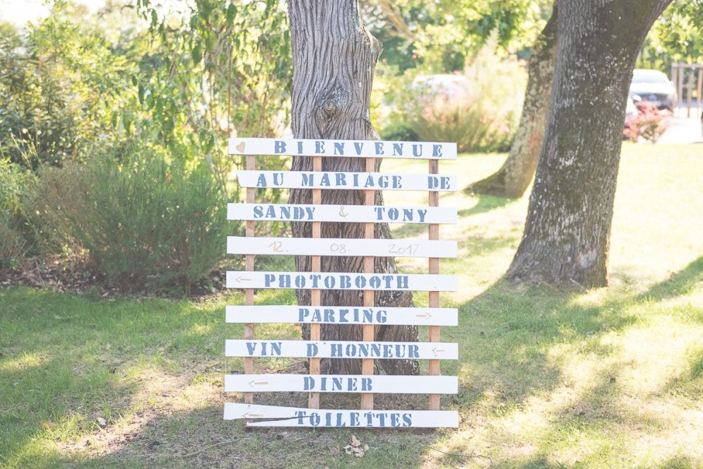 Panneaux de direction décoration mariage