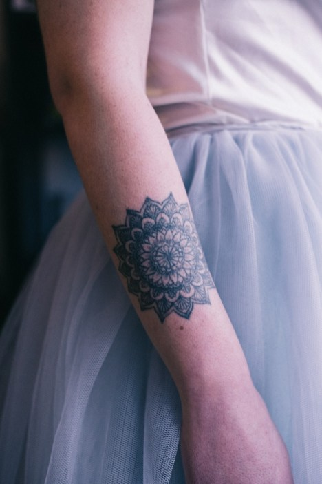 Mariée tatouée