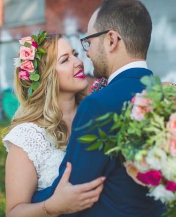 Le mariage industriel et fleuri de Najma et Guyaume à Montréal