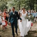 La cérémonie laïque dans les bois de Mathilde et Jérôme