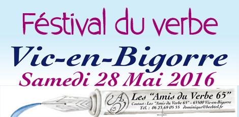 27 et 28 mai – Festival du verbe Vic-en-Bigorre
