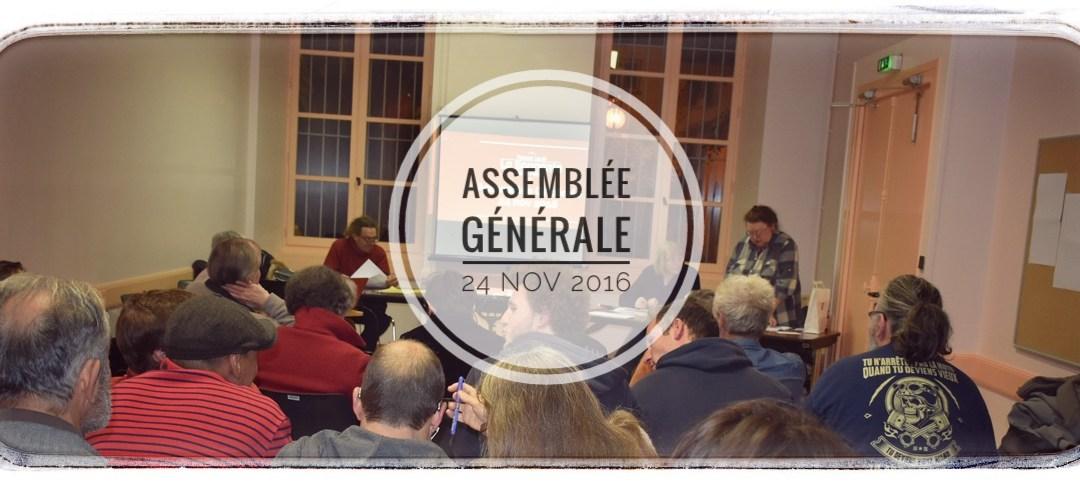 Assemblée Générale du 24 novembre 2016