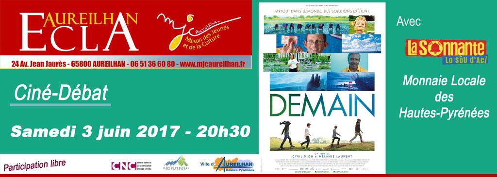 Ciné-Débat : « Demain » avec l'intervention de l'association La Sonnante