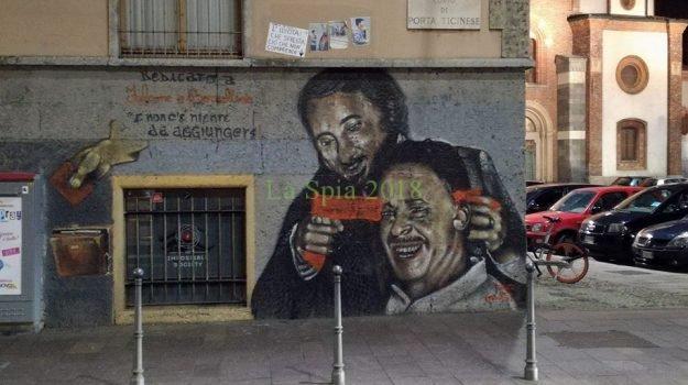 Milano/ Sfregiato murales dedicato ai 2 giudici eroi