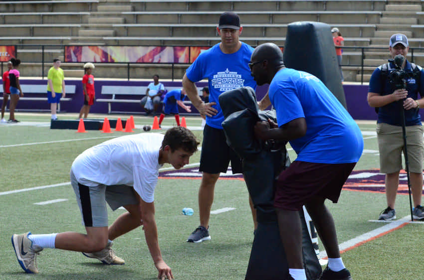 Video & Photos: Saints & Pelicans Jr. Training Camp presented by Natchitoches Parish Sheriff's Office