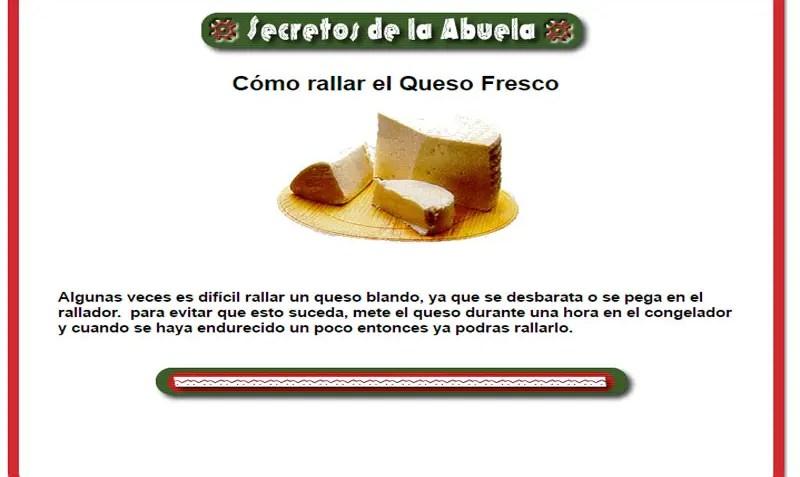 Como rallar el queso