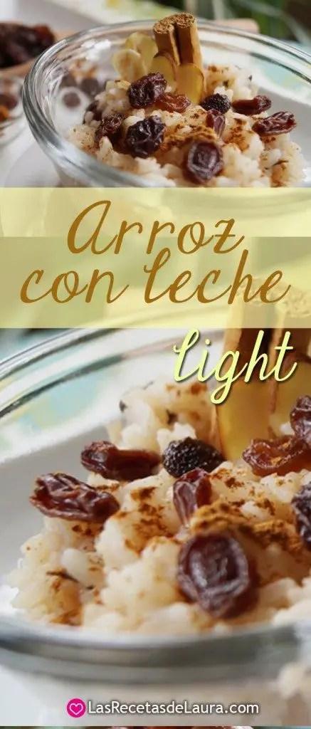 ARROZ CON LECHE LIGHT  Las Recetas de Laura