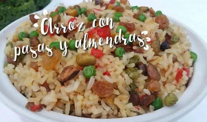 ARROZ CON PASAS Y ALMENDRAS- LAS RECETAS DE LAURA