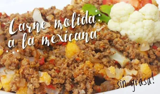 Carne Molida a la Mexicana | Las Recetas de Laura