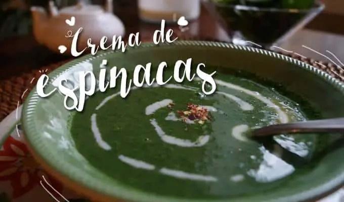 Crema de Espinacas | Las Recetas de Laura