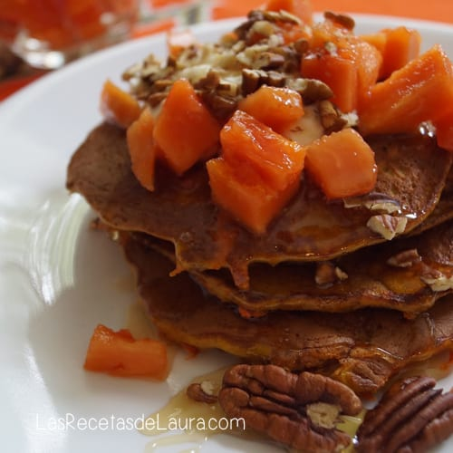 pancakes DE ZANAHORIA - LAS RECETAS DE LAURA