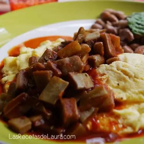 huevo con nopales - las recetas de laura