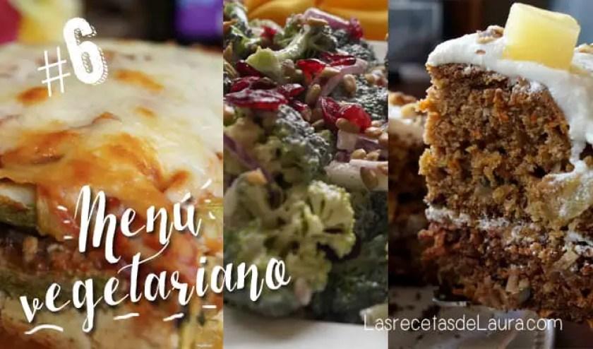 menu vegetariano - las recetas de Laura