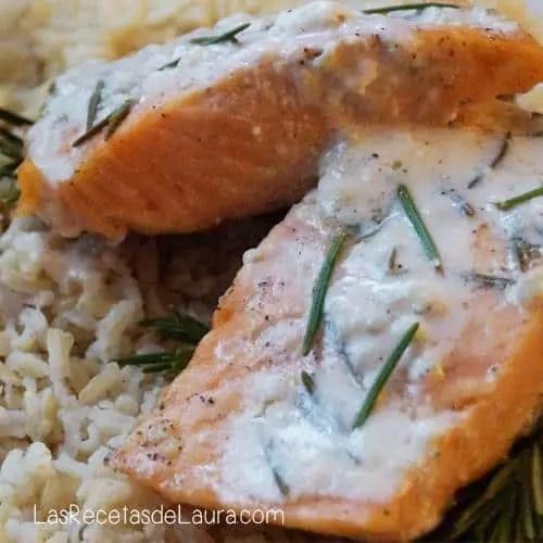 salmón al romero