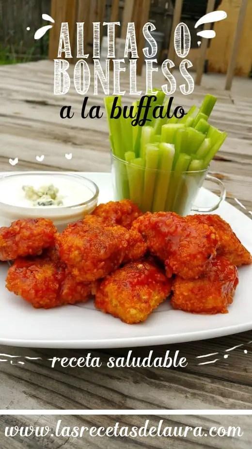 Alitas buffalo - las recetas de Laura