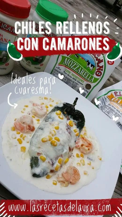 Chiles rellenos de camarones - las recetas de Laura
