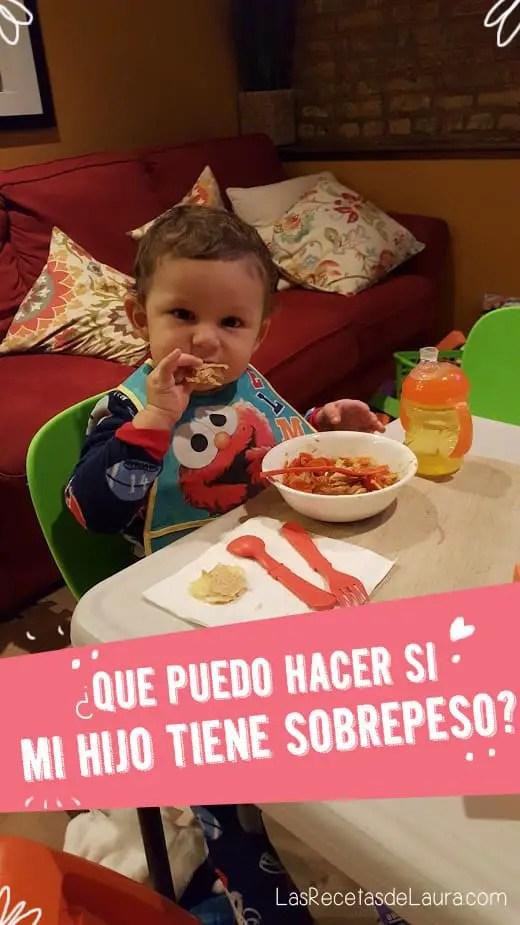 Mi hijo con sobrepeso - las recetas de Laura