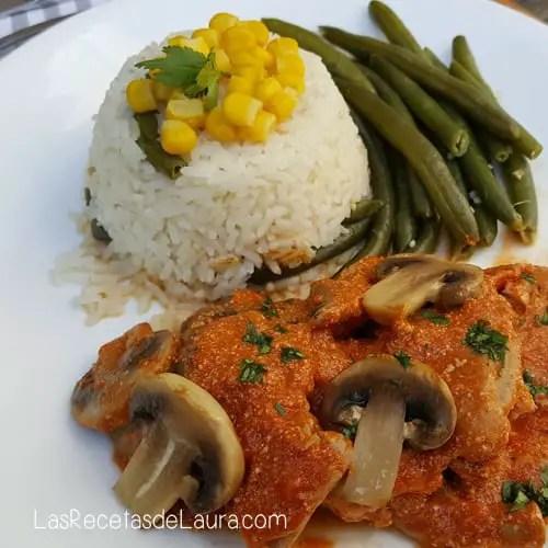 Pollo al chipotle con champiñones - las recetas de Laura