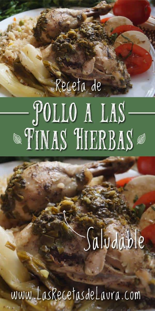pollo a las finas hierbas - las recetas de Laura