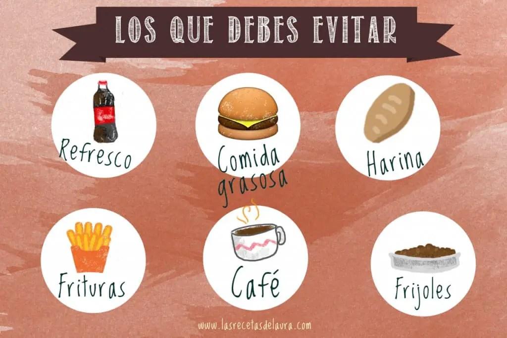 Alimentos que evitar durante tu periodo - las recetas de Laura