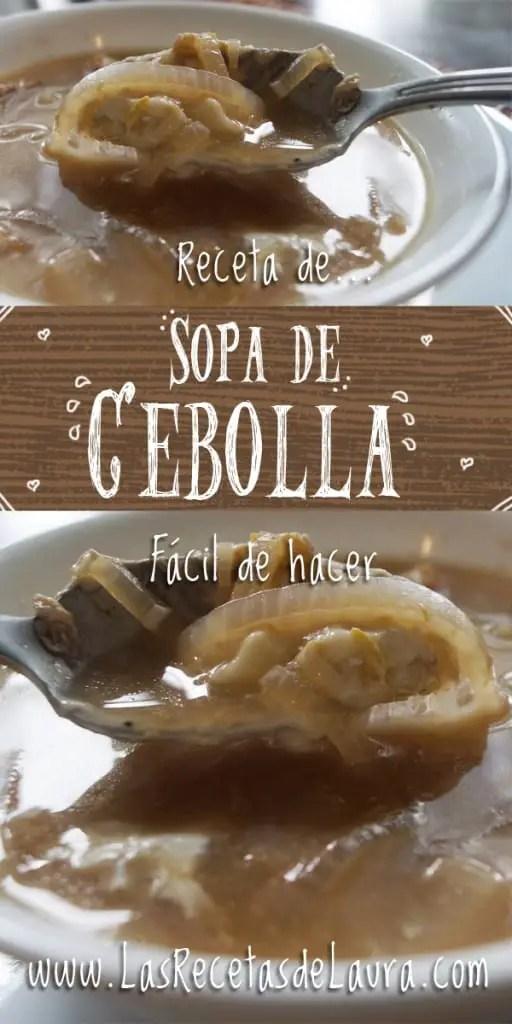 Sopa de cebolla - Las Recetas de Laura