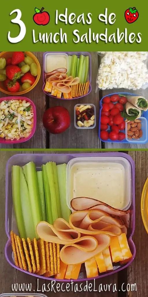 3 ideas de lunch saludable - Las recetas de Laura