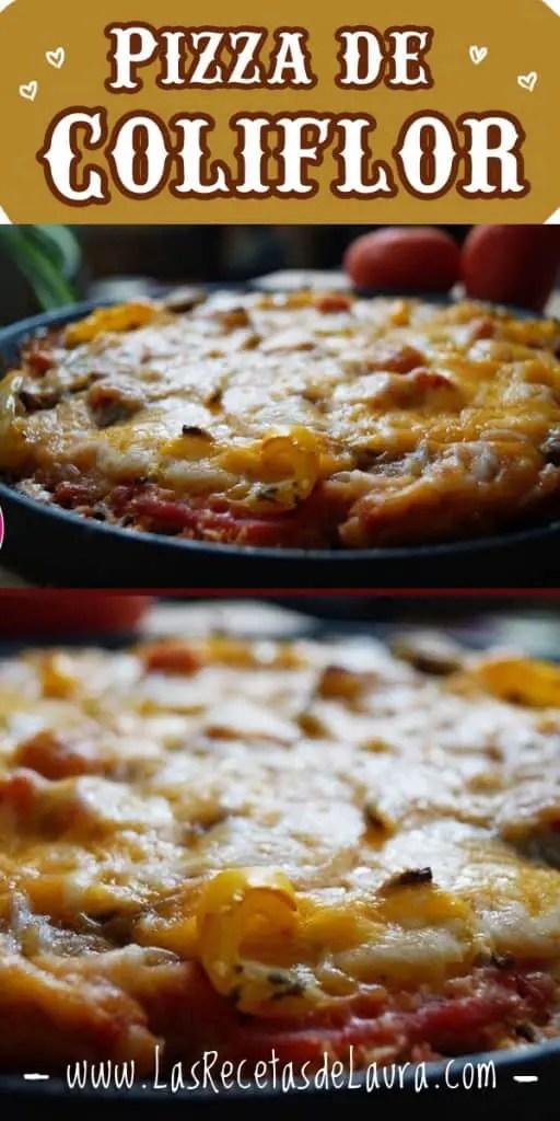 Pizza de coliflor - Las recetas de Laura