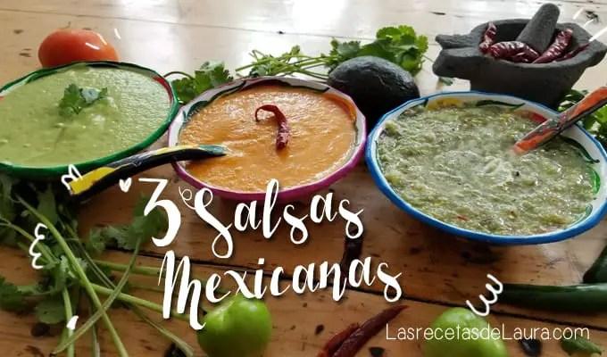 Salsas Mexicanas - Las recetas de Laura