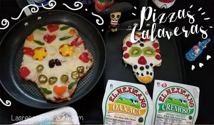 Pizzas de calavera - las recetas de laura