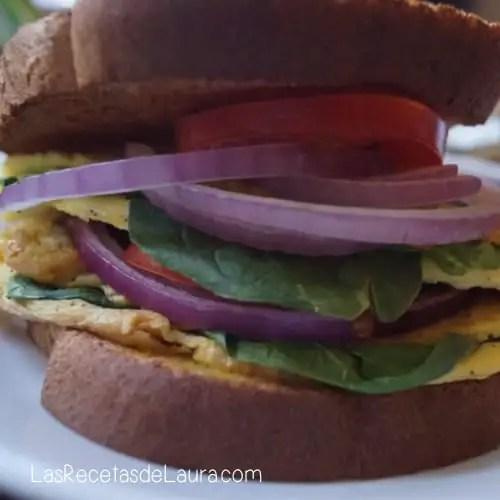 Sandwich de omelette - las recetas de laura