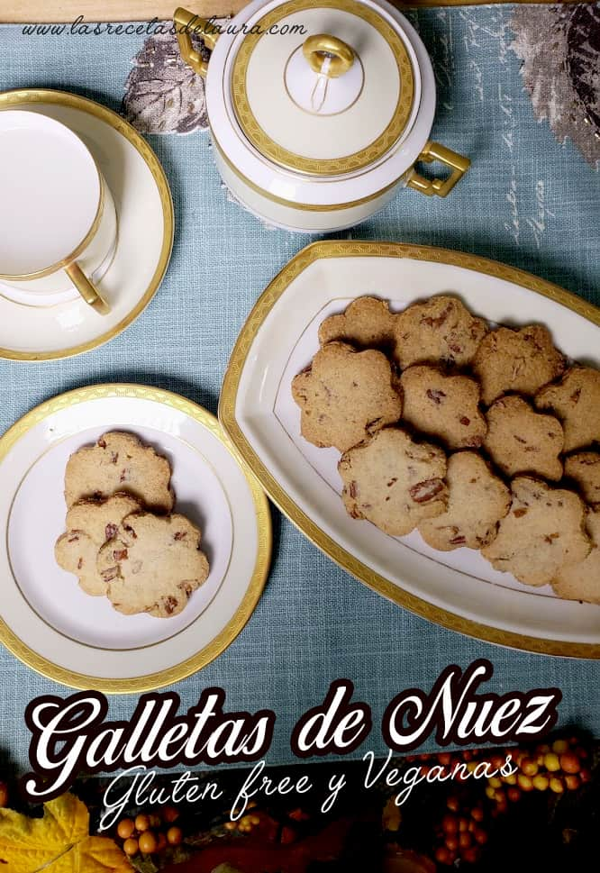 Galletas de nuez gluten free - las recetas de laura
