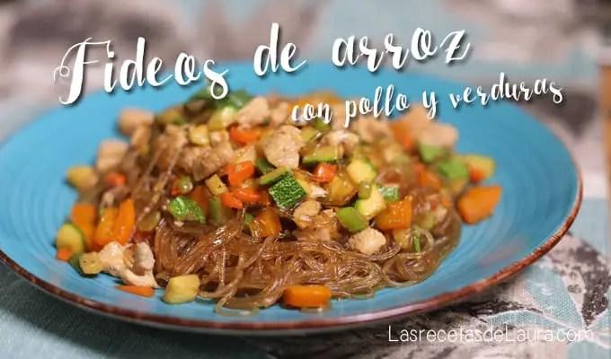 Fideos de arroz - las recetas de Laura