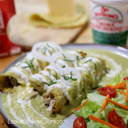 Enchiladas suizas receta