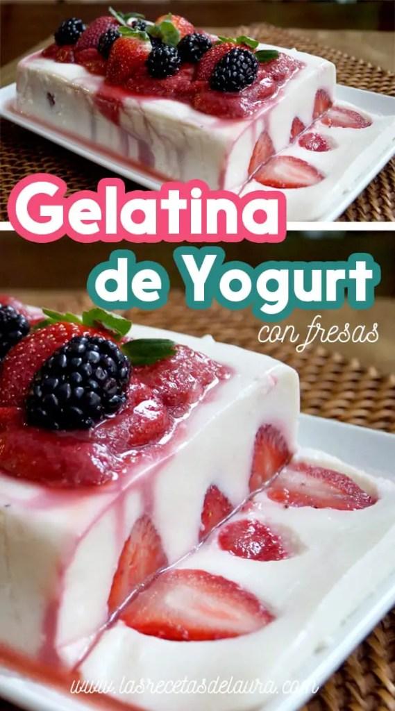 Gelatina de yogurt