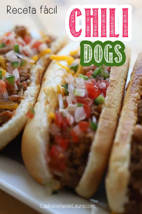 Receta de chili dogs