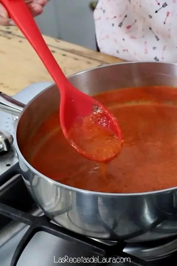 Salsa de tomate casera para pasta