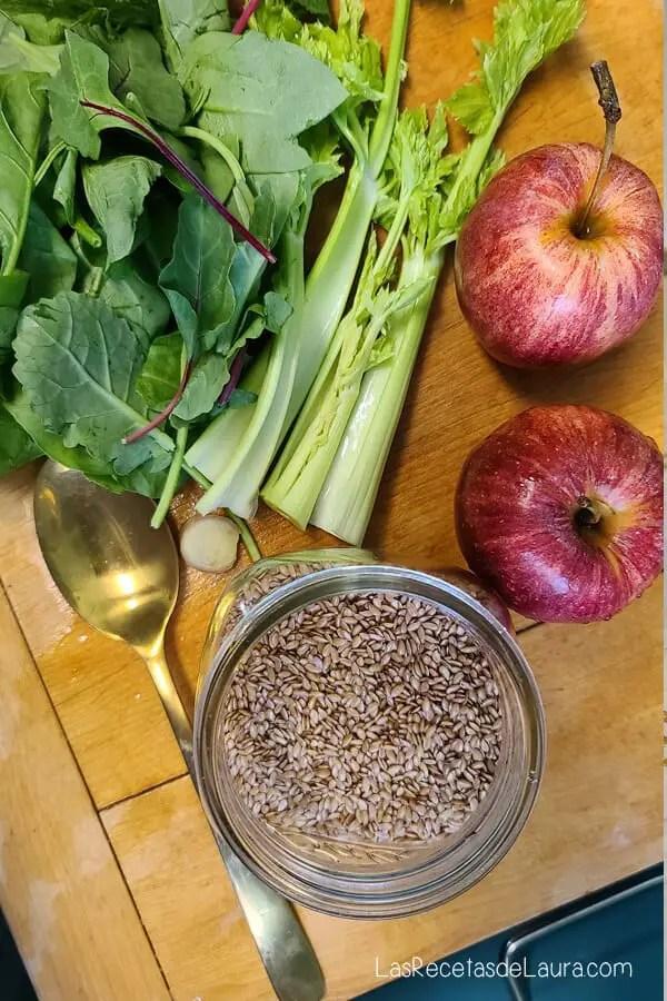 Ingredientes para jugos saludables