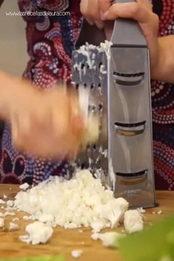 Como se hace el arroz de coliflor