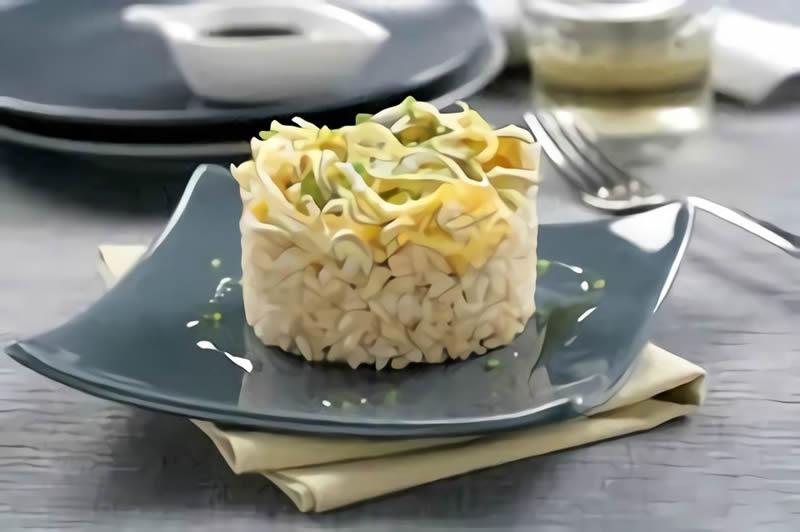 Como hacer timbal de arroz