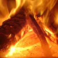 Las cálidas cocina a leña y estufa