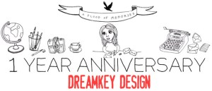 Letter project anniversary: Dreamkey Design giveaway