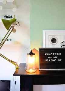 DIY: jar lamp