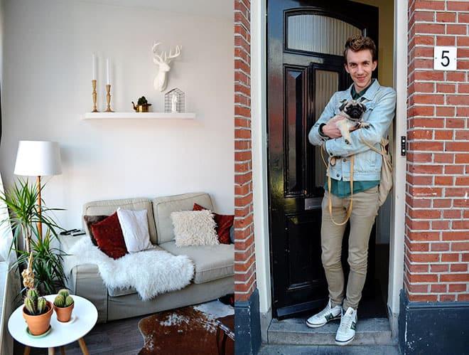 Binnenkijken Thuis Femke : Binnenkijken eenkamerappartement van rick en j p